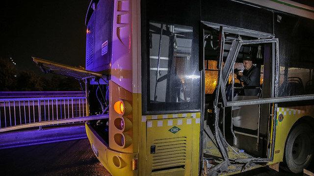 Bariyer otobüsün motoruna saplandı: Biri ağır 4 kişi yaralandı