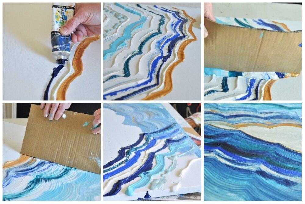 Рисунки акриловыми красками на холсте