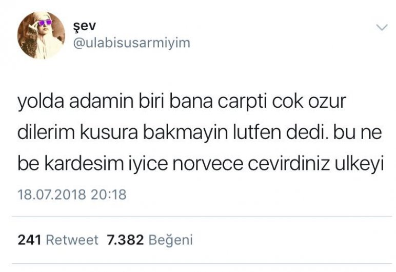 Türkiye Norveç oldu...