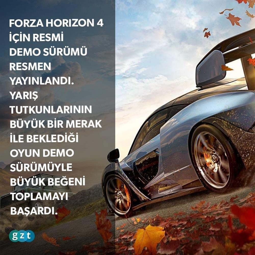 Forza Horizon 4 Demo'su çıktı!