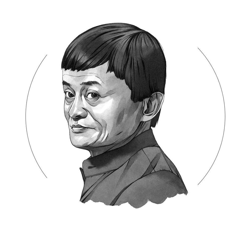 Kusursuz Jack Ma illustrasyonu!